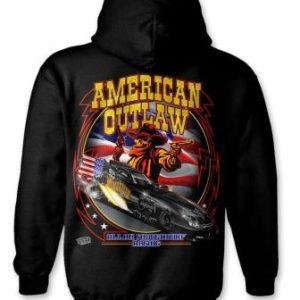American Outlaw Hoodie Funny Car – Black