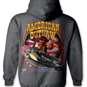 American Outlaw Hoodie Funny Car – Charcoal Gray
