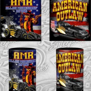 American Outlaw Can Coozie Fuel Altered and Funny Car designs