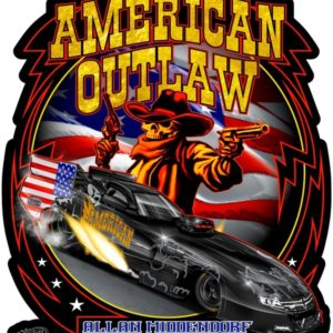 American Outlaw Decal Fuel Altered and/or Funny Car