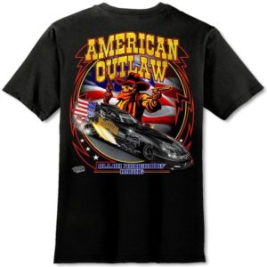 American Outlaw T-Shirt Funny Car – Black