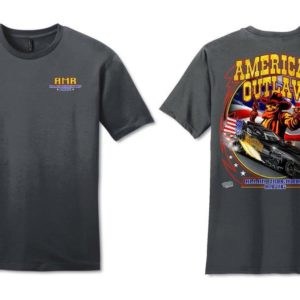 American Outlaw T-Shirt Funny Car – Charcoal Gray