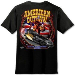 American Outlaw T-Shirt Funny Car – Black