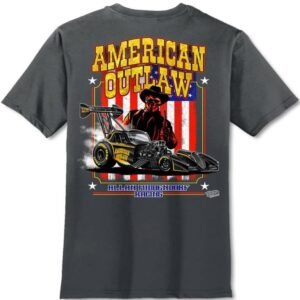 American Outlaw T-Shirt Fuel Altered – Charcoal Gray