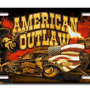 2020 American Outlaw Metal License Plate
