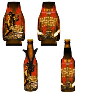 2020 American Outlaw Bottle Zip Coozie