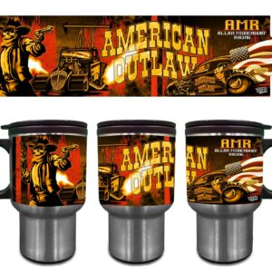 2020 American Outlaw Stainless Steel Travel Mug