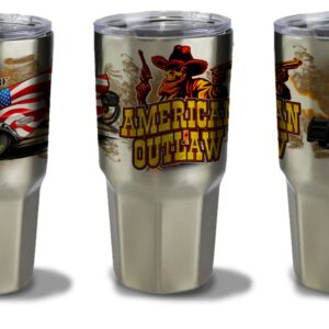 2021 American Outlaw 30oz Tumbler- Stainless