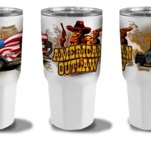 2021 American Outlaw 30oz Tumbler- Power Coated